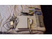 NINTENDO WII CONSOLE COMES WITH 2 GAMES / WII BOARD / AND EXTRAS / FOR SALE OR SWAPS