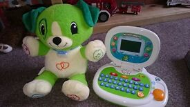 Leapfrog my pal scout and leapfrog learning laptop.