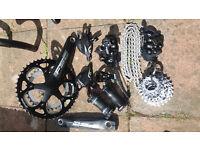 Diverse bike parts for sale.
