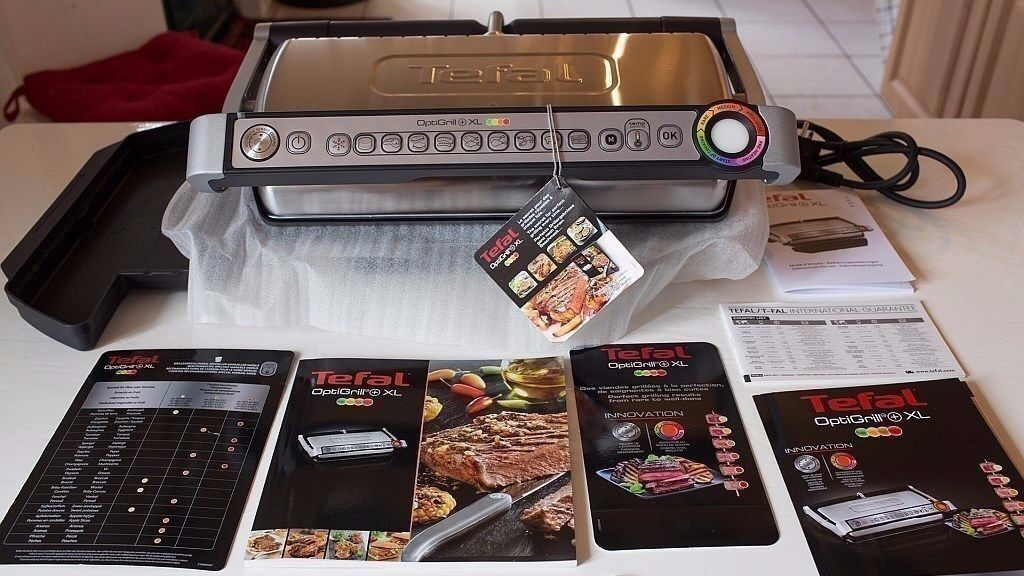 tefal optigrill xl automatic grill intelligent self cooking rrp 199 bnib in colchester. Black Bedroom Furniture Sets. Home Design Ideas