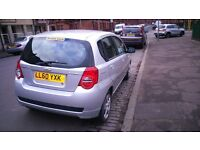 2011 BRILLIANT CHEVROLET AVEO, LOW MILEAGE ONLY 42000, FULL YEAR MOT, 5DR HATCHBACK SILVER