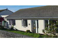 Three bedroom bungalow, gardens front and rear, garage, double glazed, amazing views, close to A30