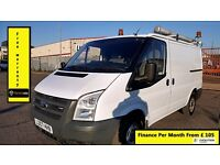 Ford Transit Low Roof SWB Panel Van 2.2 300 49k Miles Only -1 Owner- FSH- 1YR MOT -Warranty 260 280