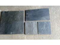 Charcoal Grey Slate Floor Tiles
