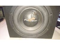 Pioneer TS-W2000SPL 2000w competition car subwoofer with enclosure 750w RMS Alpine Sony Vibe