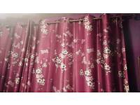 KATE MOSS SATIN LINED CHERRY BLOSSOM CURTAINS