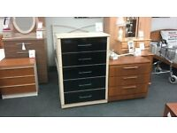 Chest of Drawers Black Gloss BRITISH HEART FOUNDATION