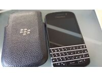 BlackBerry Q10 - 16GB - Black/Carbon Edition and Original BB Leather Slip Case