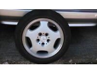 Mercedes Alloy Wheel & Michelin Sport Tyre