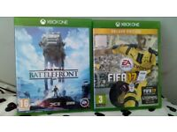 Fifa 17 and star wars battlefront