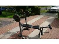 Body max bench and weights £30