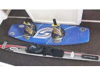 Stinger wake board and solo pro 8.2 flex medium slalom ski