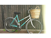LADIES RALEIGH TOWN BIKE WITH BASKET, LIGHTS, LOCK -LARGE ! £60