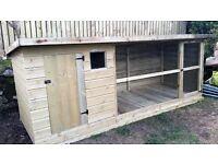 Hand built dog kennel