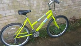 a lovely raleigh 26 inch wheel girls bike for sale
