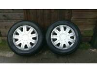 Pair Of Continental 165/70 R 13 79T Tires