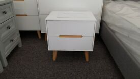 Julian Bowen Alicia 2 Drawer Bedside Table Can Deliver
