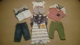 0-3 months baby boys summer clothes bundle