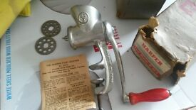 Vintage The Haper food chopper, pure tin