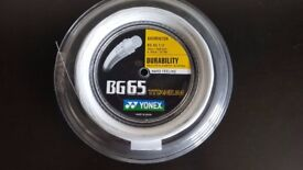 Yonex BG 65 Ti (200 metre reel) Badminton Racket String (NEW)