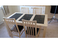 Harveys Beech Table and four chairs REDUCED to £95