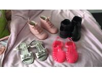 Bundle girls shoes and boots size 6