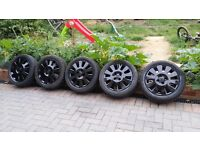 15 inch Vauxhall corsa alloys with excellent tyres(more than 6mm tread) set of 5 alloys