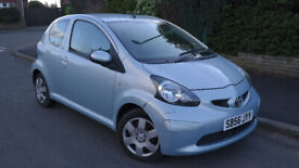 2006 TOYOTA AYGO LOW MILES 10 MONTHS MOT SERVICE HISTORY IDEAL 1ST CAR £20 TAX DRIVES GREAT £1395