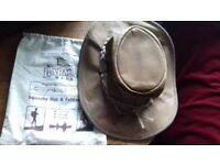 Genuine Leather Waterproof Australian Barmah Hat