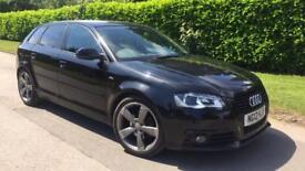 2012 AUDI A3 S LINE BLACK EDITION 2.0 TDI + BOSE AUDIO + £30 TAX + OFFERS LEON BMW 116D SCIROCCO GTD