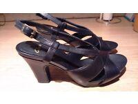 Ladies Clarks sandals - size 6