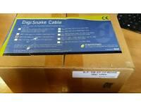 DigiSnake 12 ft DB25 - XLR-F Input Snake (9940-29649-00) BRAND NEW