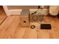 Teac MC-DX220i Slim Line Micro Hi-Fi System SubWoofer CD Player iPod Dock plus radio shack