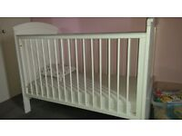 White classic cot bed