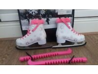 Girls size 13 ice boots