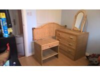 Bamboo and wicker bedroom furniture for sale