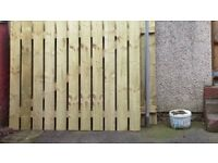 New X 2 sets of wooden gates