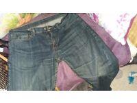 Men's Levi's 508 Jeans waist 34 inch, leg 30 inch