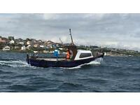 Fishing boat, engine, trailer
