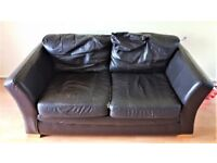 ***FREE!*** Brown leatherette 2 seater sofa