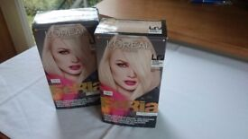 New 2x L'oreal féria hair paint set colouring blonde