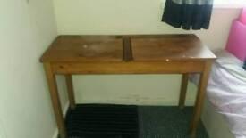 double wooden desk