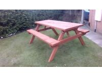 Picnic Bench, Handmade, Heavy Duty Pub Style 1.5m/5ft