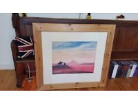 Barker and Stonehouse large reclaimed pine framed picture