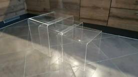 3pc Acrylic Nesting Coffee Tables