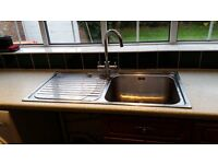 KITCHEN SINK WITH TAP AND DRAINER