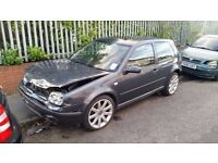 2002 VW GOLF 1.4 16 VALVE BREAKING FOR SPARES. ALL PARTS AVAILABLE IN GREY