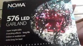 Noma 576 LED garland cluster copper lights