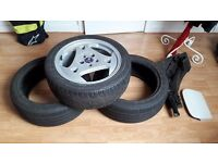 Saab 9-5 parts bundle - hammerhead wheel, Continental tyres