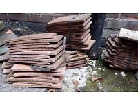Roof tiles about 50-60 of them. Free